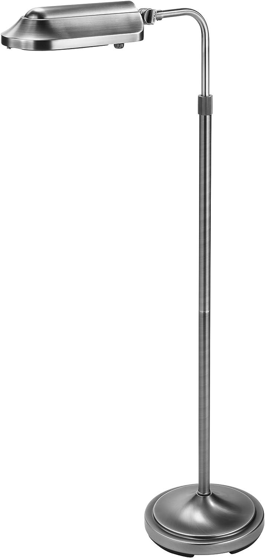 Verilux Heritage Deluxe Natural Spectrum Floor Lamp, Classic All Metal Design, Antiqued Brushed Nickel