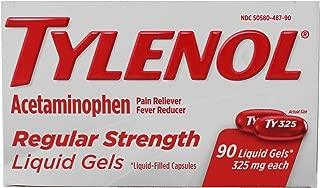 Tylenol Regular Strength Liquid Gels 90 ct, (Value Pack of 2)