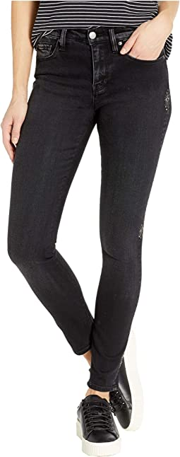 Nico Mid-Rise Ankle Skinny Jeans in Interstellar