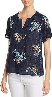 Womens Crochet Floral Blouse