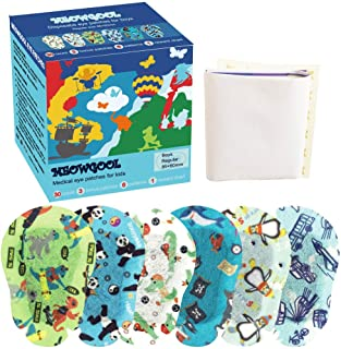 MEOWGOOL Eye Patches for Kids 6 Fun Patterns 30+3 Count Boys Girls Adhesive Eye Patches for Lazy Eye (Amblyopia) Cross Eye...