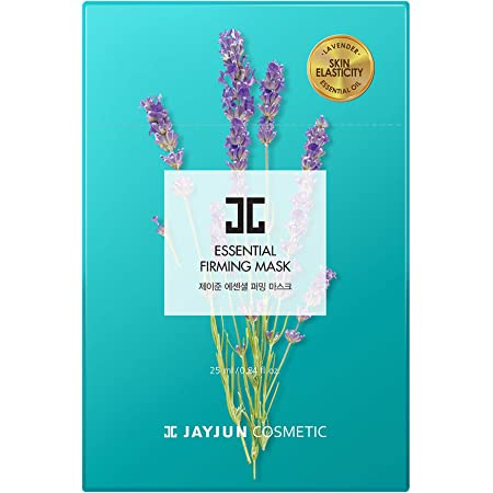 JAYJUN Essential Firming Mask, Pack of 10 Sheets, 0.84 fl. oz, 25ml, Lavender, Elasticity