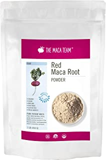 The Maca Team Raw Red Maca Powder, Fair-Trade, GMO-Free Maca from Peru, 1 Pound, 50 Servings