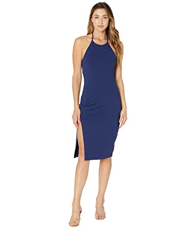 Susana Monaco Halter Slit Dress Women