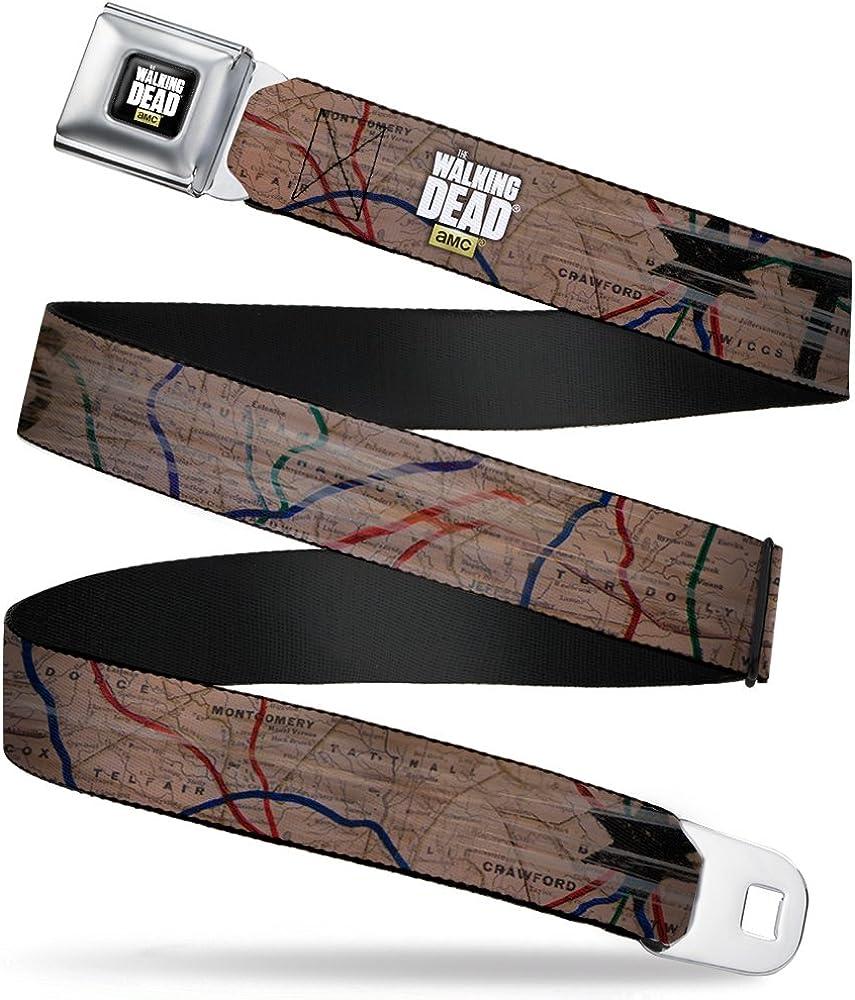 Buckle-Down Boys' The Walking Dead Terminus Map Seatbelt Belt