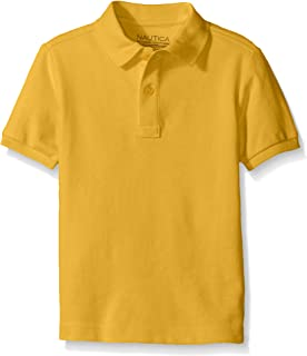 Boys' Toddler School Uniform Short Sleeve Pique Polo