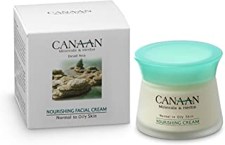 CANAAN Face Nourishing Cream Moisturizer - Dead Sea Nourishing Facial Cream For Oily Skin, 1.7 fl.oz / 50ml, Get Youthful Looking Skin