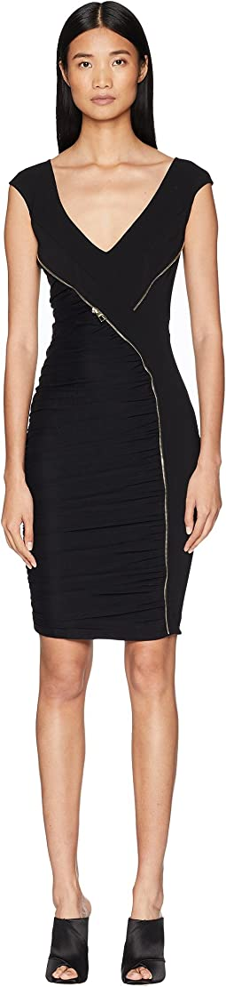 Abito Donna Asymmetrical Zip Sheath Dress