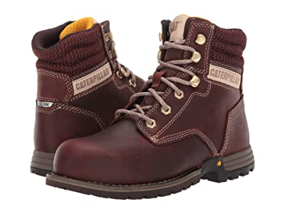 Caterpillar Paisley 6 Steel Toe (Tawny Full Grain Leather) Women