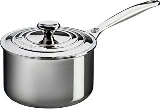 Le Creuset Tri-Ply Stainless Steel Saucepan, 3 qt.