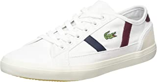 Lacoste Sideline 319 2 Womens White/Dark Red Trainers