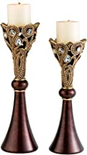 """Ore International K-4272C Moselle Candleholders-Set of 2, 14"""", 16"""" H, 14 x 16, Unknown"""
