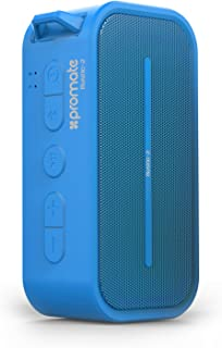 Promate Rustic-2 Wireless Speaker Bluetooth 4.0 with Hands-Free Function and Water Resistance -Blue