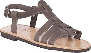Greek Leather Sandals for Men. Handmade Leather Sandals. Hercule Style Antique Brown Color