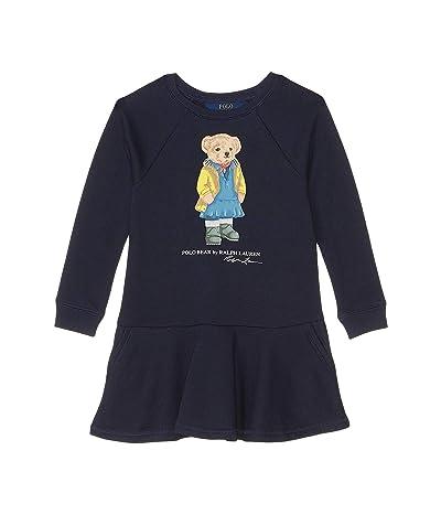 Polo Ralph Lauren Kids Raincoat Bear Terry Dress (Little Kids) (Hunter Navy) Girl
