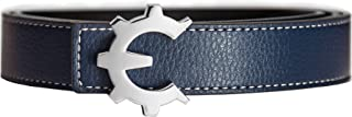 Genii Leather Belt - Leather Strap, Reversible with 5 Buckles