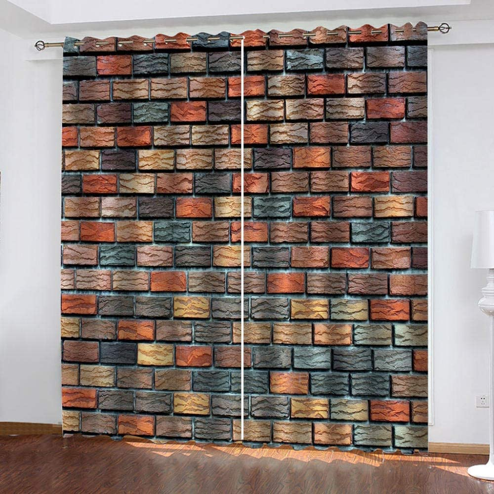 Tucson Department store Mall IZYLWZ Blackout Curtains for Bedroom Gromme Wall Print Art Brick