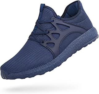 ZOCAVIA Men's Sneakers Ultra Lightweight Breathable Mesh Sport Gym Walking Running Shoes (Blue,Size 6.5)