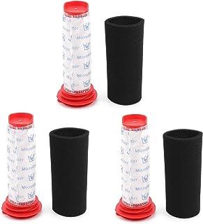 DingGreat Paquete de 3 filtros de palo principal lavables + inserto de espuma para aspiradora inalámbrica Bosch BCH6 75417...