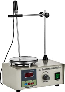 Happybuy Magnetic Stirrer 2400RPM Magnetic Mixer 1000ml Magnetic Stirrer Hot Plate 85-2 Heating Power 300W for Lab Liquid Mixing Heating