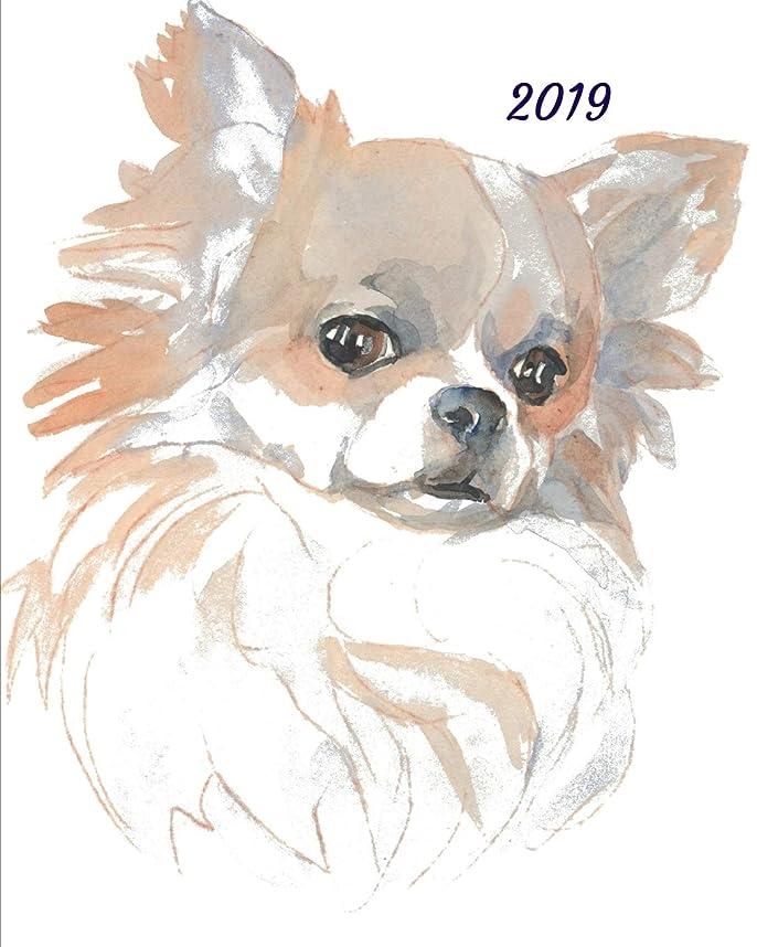 試してみるレバー減る2019: A Cute Weekly Planner Chihuahua Dog Themed 53 Week Journal Planner Notebook.
