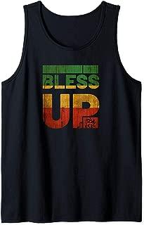 Bless uP Rasta T Shirt Jamaica Roots Rock Reggae Tank Top