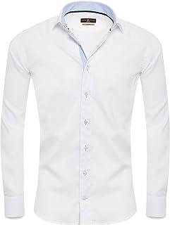 Giorgio Capone Camisa para hombre, 100 % algodón, diseño a
