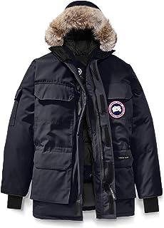 [カナダグース] CANADA GOOSE Men`s Expedition Relaxed Fit Genuine Coyote Fur Trim Down Jacket メンズパーカー [Navy] [並行輸入品]