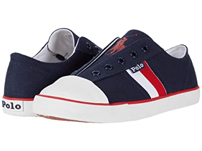 Polo Ralph Lauren Kids Robson (Little Kid) (Navy Canvas/Red/White/Red Polo Print) Boy
