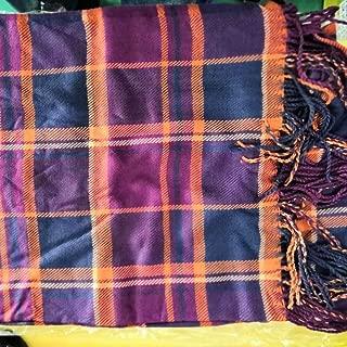 Wiwsi Tassel Women Plaid Scarfs Long Warm Cotton Wraps Winter Fashion Shawls