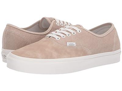Vans Authentictm ((Washed Nubuck/Canvas) Humus/Blanc) Skate Shoes