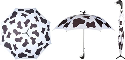 """discount Whimsical, Fashionable and Fabulous discount 30.7"""" sale Standing Cow Handle Stick Umbrella By SkyMall outlet sale"""