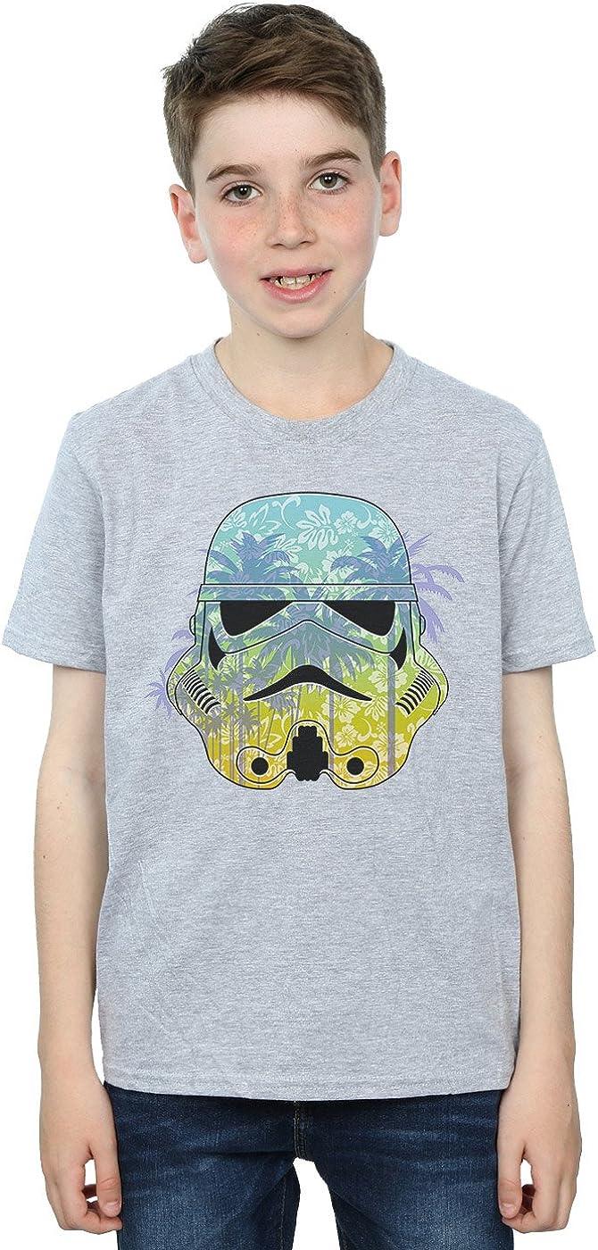 STAR WARS Boys Stormtrooper Command Hawaii T-Shirt 12-13 Years Sport Grey