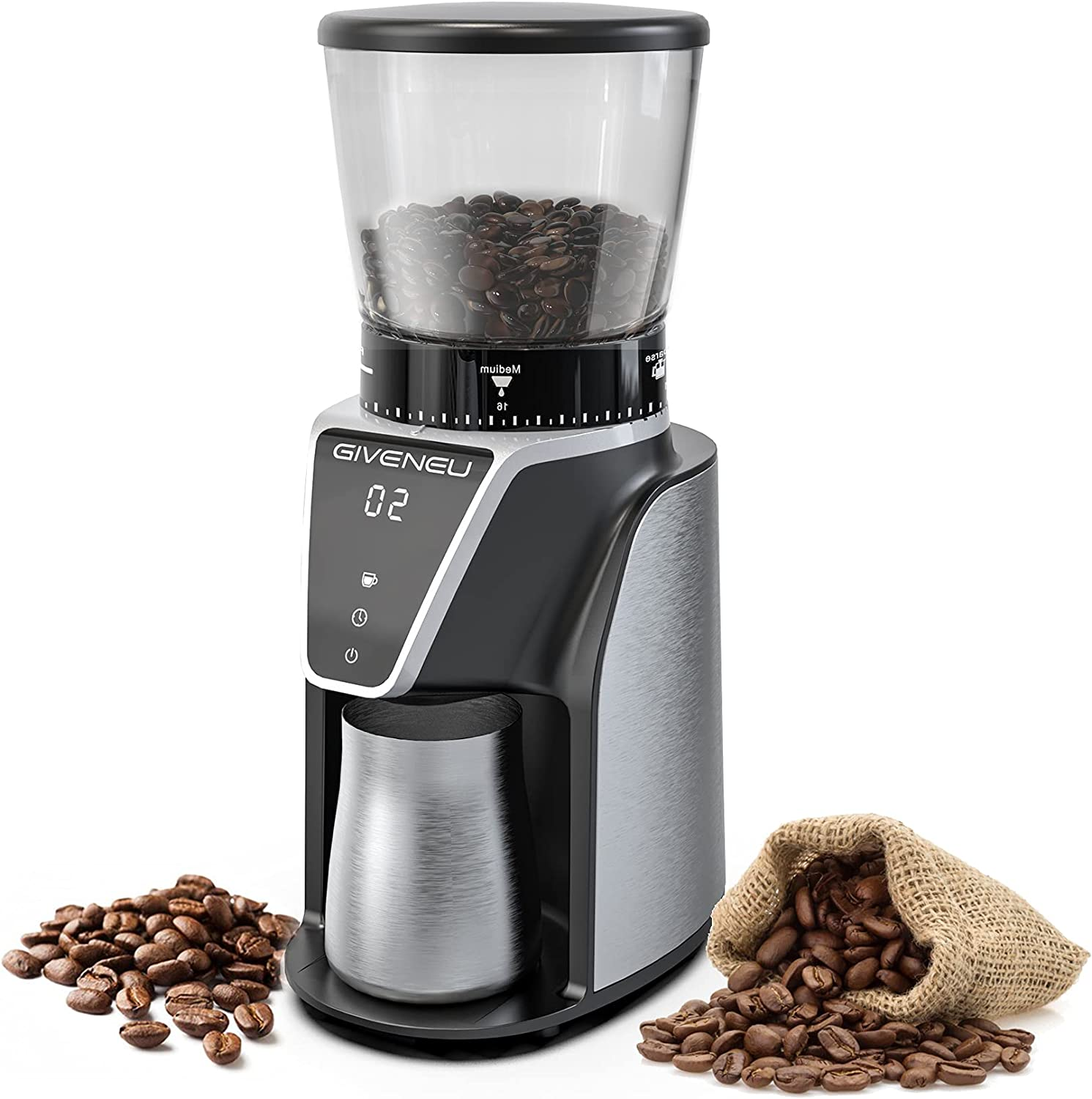Don't miss the campaign Electric Burr Coffee Grinder Bean Challenge the lowest price G GIVENEU Conical