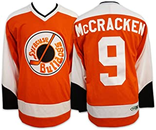 Mad Brothers #9 Mccracken Slapshot Movie Officially Licensed Syracuse Bulldogs Hockey Jersey Made in Canada