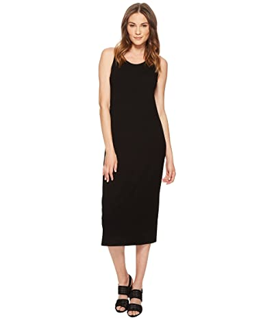 Eileen Fisher Scoop Neck F/L Dress (Black Viscose Jersey) Women