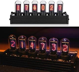 LED Nixie Clock,DIYでカスタマイズされた背景と20以上のモード、USB Type-C電源、ニキシー管時計キット、クリエイティブなデスクトップの装飾品、ボーイフレンドギフト、石の門