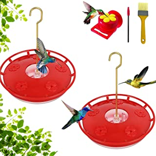 Hummingbird Feeders for Outdoors Hanging 2 Pack and 1 x Handheld Hummingbird Feeder for Window,Leak-Proof,Easy to Clean an...