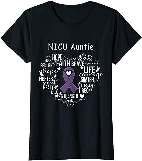 Womens NICU Auntie Preemie Costume NICU Awareness Month Gift T-Shirt