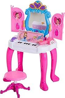 Coche y moto Capotas flexibles AzuNaisi 2 PC Mini Barbie tocador con Silla niña de tocador de Juguetes Mininature Juguetes Muebles para la muñeca Barbie