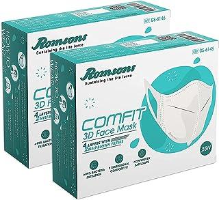 Romsons 3D Comfit 4 layer Face Mask Pack of 100 pcs for unisex