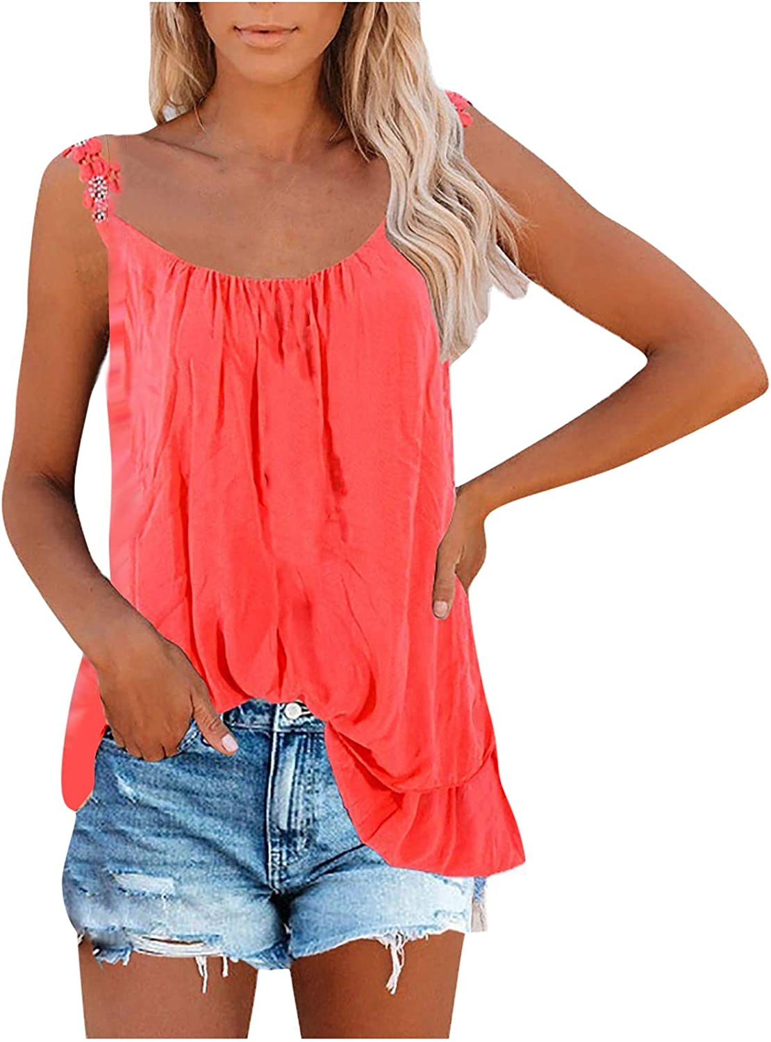Free shipping New Fashion Women Online limited product Casual Loose Solid Lace Sex Slim O-Neck Tank Sling