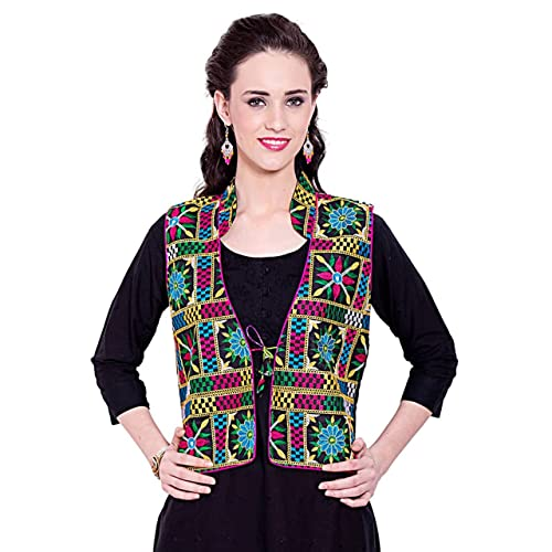 3a22ca5a315 Vastraa Fusion Blue Color Cotton Shrug Jacket Waistcoat- for Womens and  Girls-