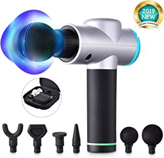 Massage Gun New Upgraded Cordless Handheld Percussion Massager Super Quiet Brushless Motor Deep Tissue Massager for Muscle Tension Relief