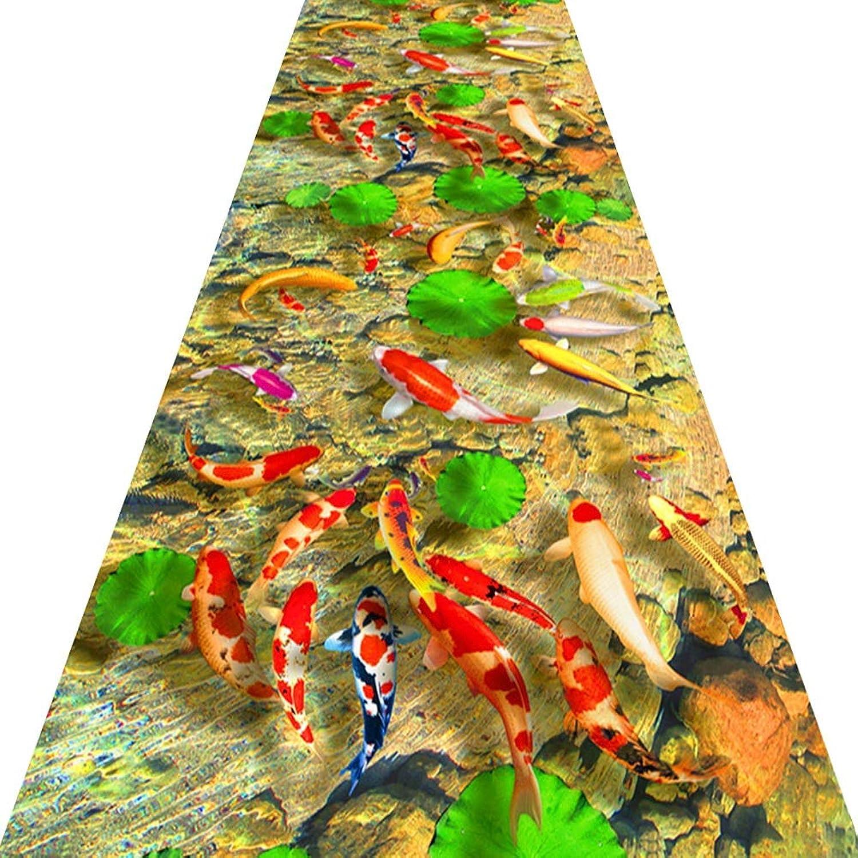 marca de lujo KKCF-Alfombras de pasillo Estanque De De De Peces En 3D Antideslizante Se Puede Cortar No Se Desvanecen Corrojoor Alfombra, Múltiples Tamaos (Color   A, Talla   1.2x2m)  compras online de deportes