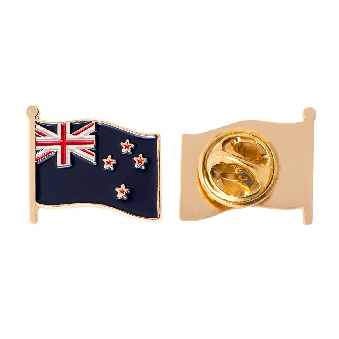New Zealand Country Flag Lapel Pin Enamel Made of Metal Souvenir Hat Men Women Patriotic NZ (Waving Flag Lapel Pin)