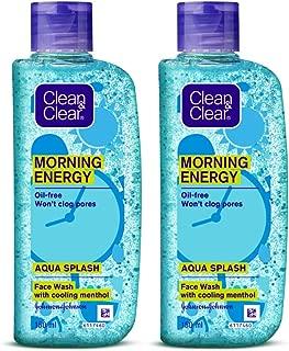 Clean & Clear Morning Energy Aqua Splash, Blue, 150 ml (Pack of 2)