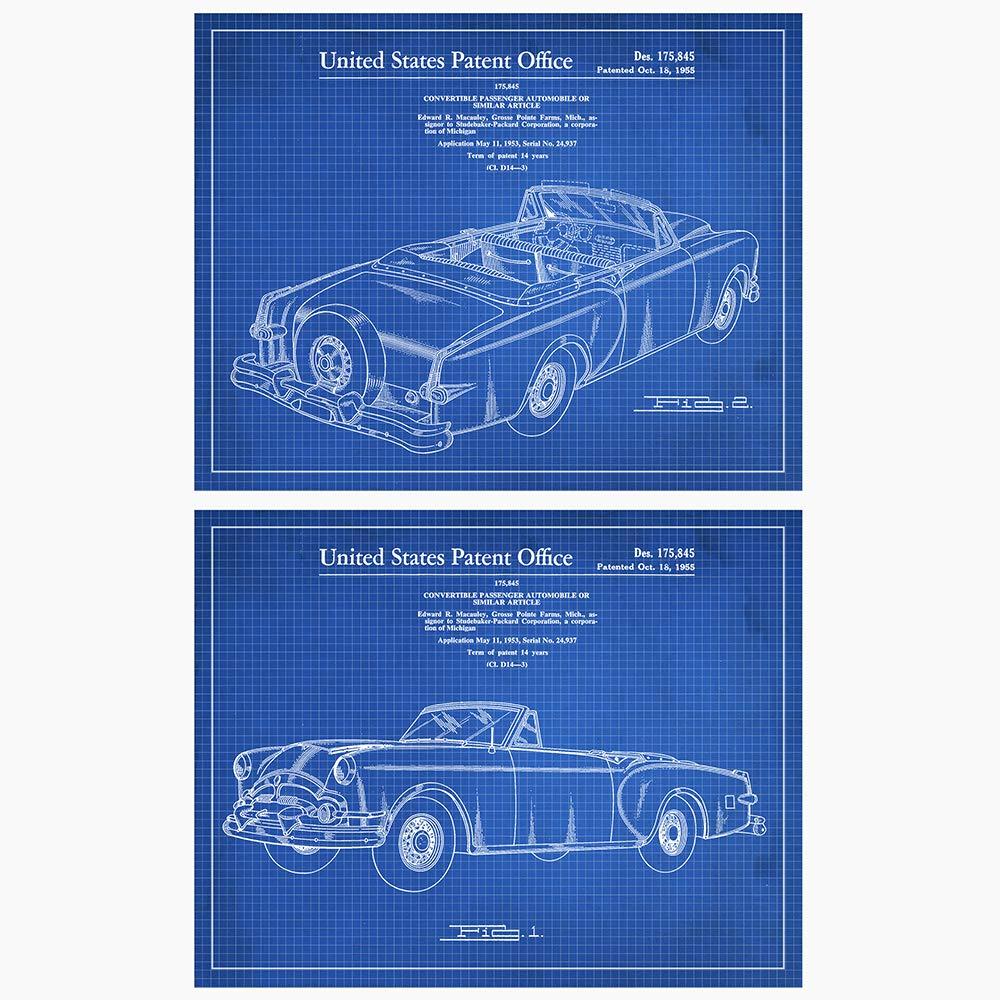 Original Brand Cheap Sale Venue Genuine 1955 Packard -2 Patent Prints Unframed x Art - 14 11