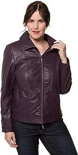 Women's Plus Size Faux Leather Jacket 717323