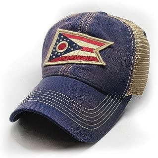 Ohio Flag Patch Trucker Hat, Navy
